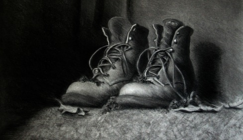 charcoal study heightened w/ chalk
