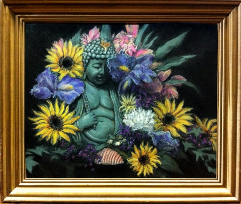 Buddha Still Life, Academic Pastel Study completed yesterday!