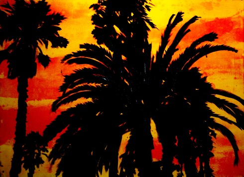 Venice Palms in Acrylic