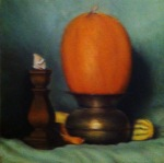 Traditional pumpkin still life in Oil on Canvas!
