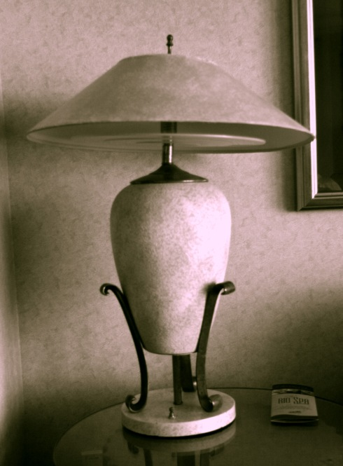 Still Life of a Las Vegas Suite Lamp